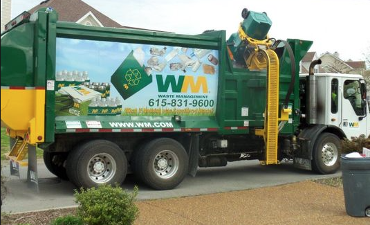 Waste Management recycling truck