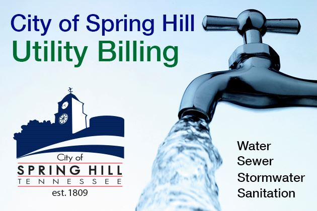 Spring Hill Utility Billing Graphic