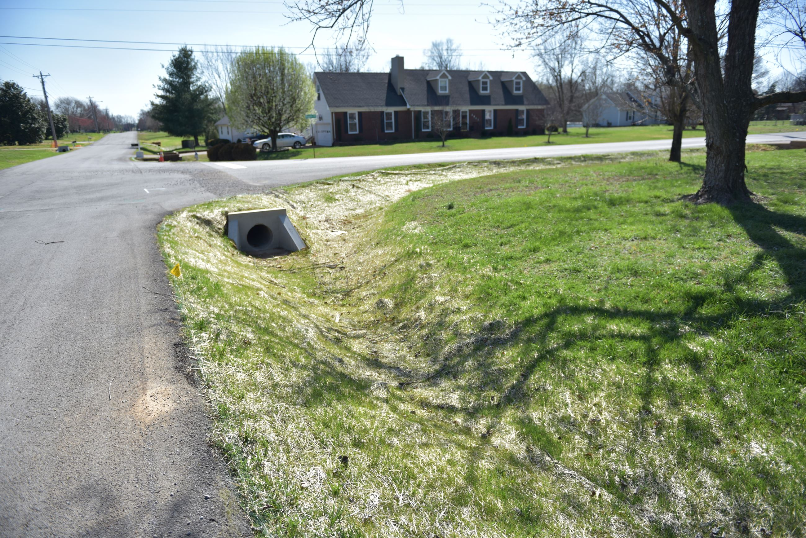 Stormwater improvement project in Buckner Place