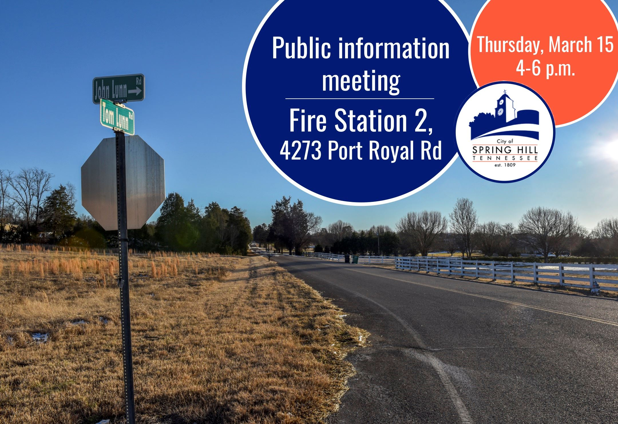 Tom Lunn Road informational meeting