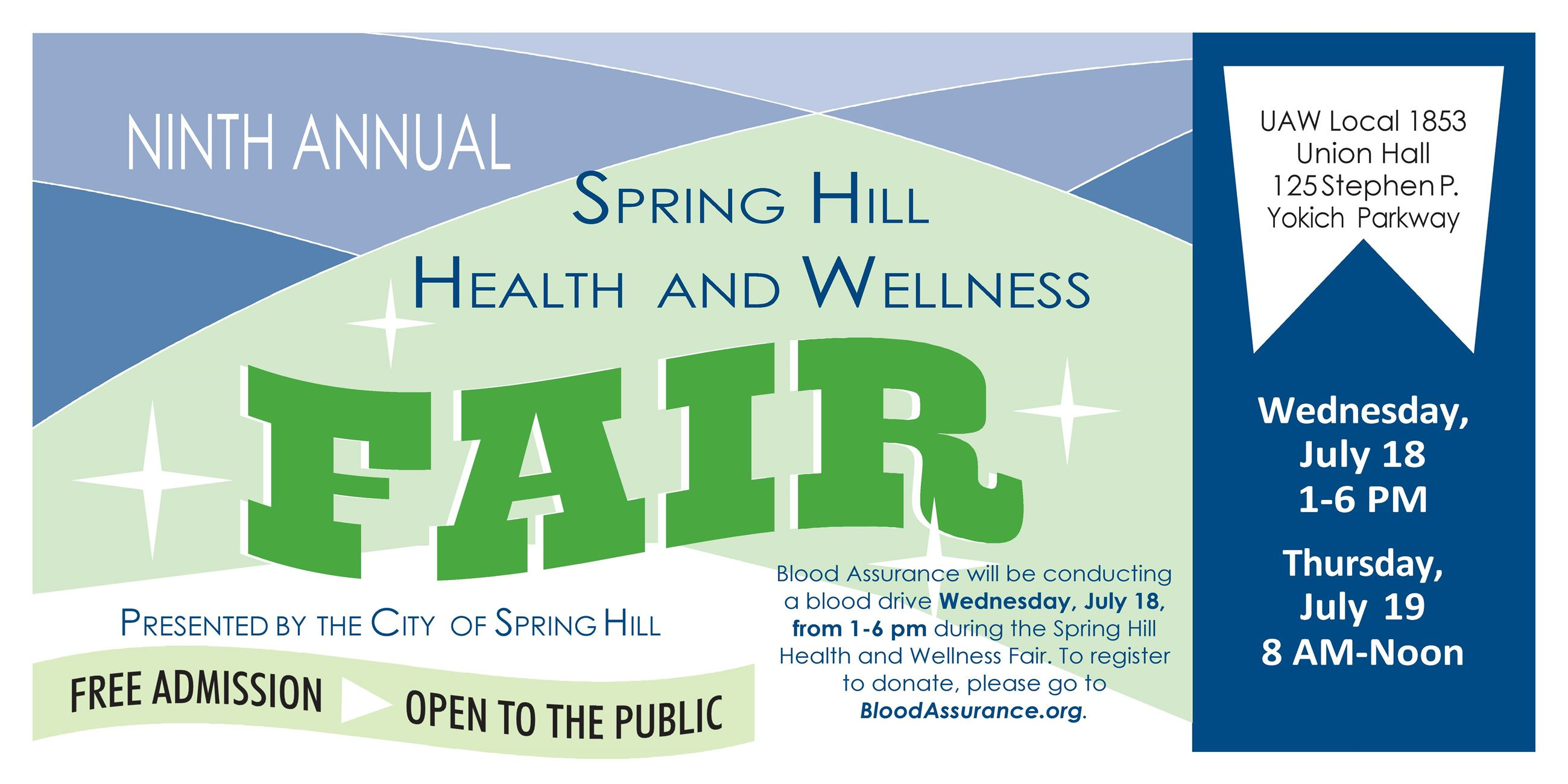 Health and Wellness Fair Banner