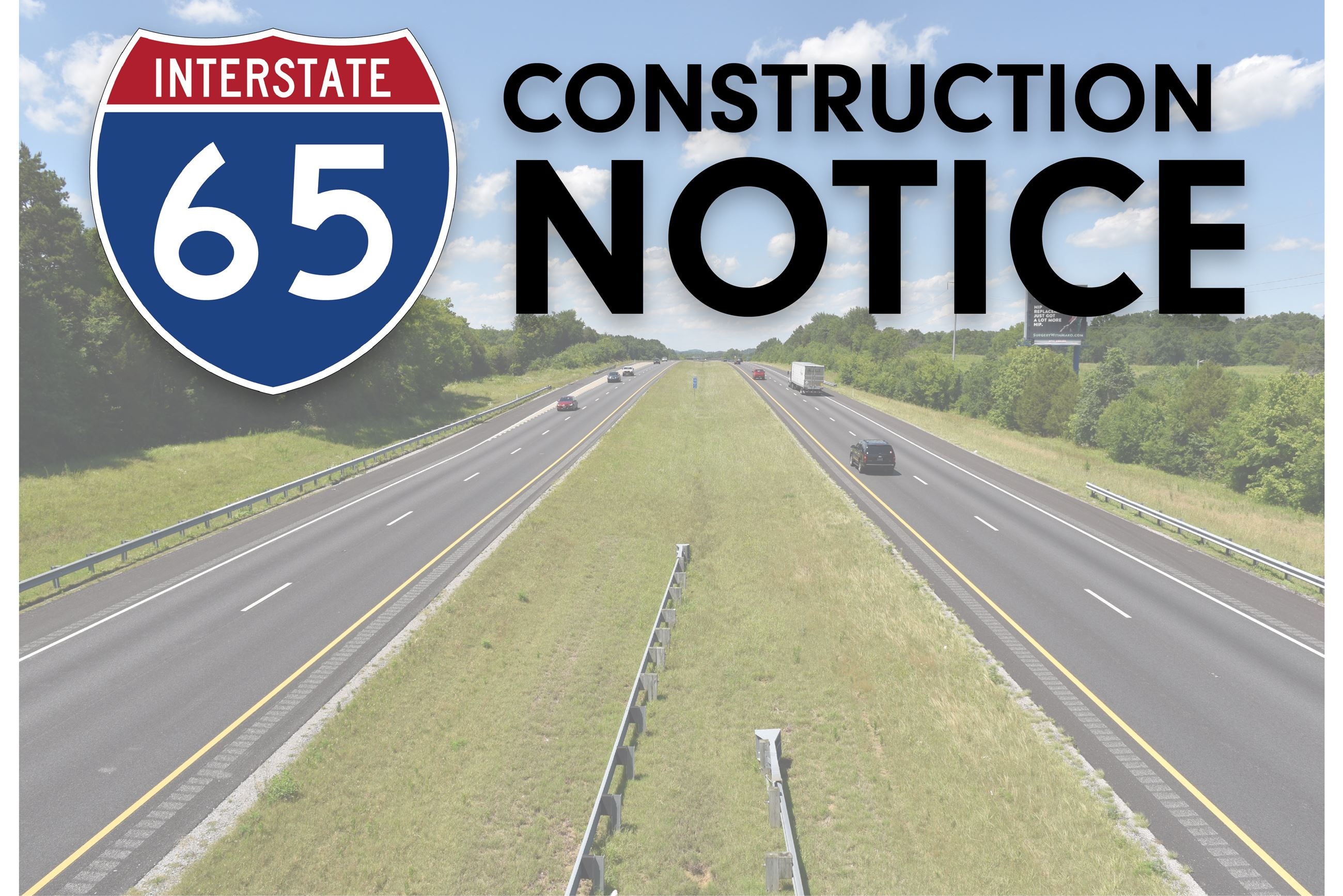 I-65 Construction Notice
