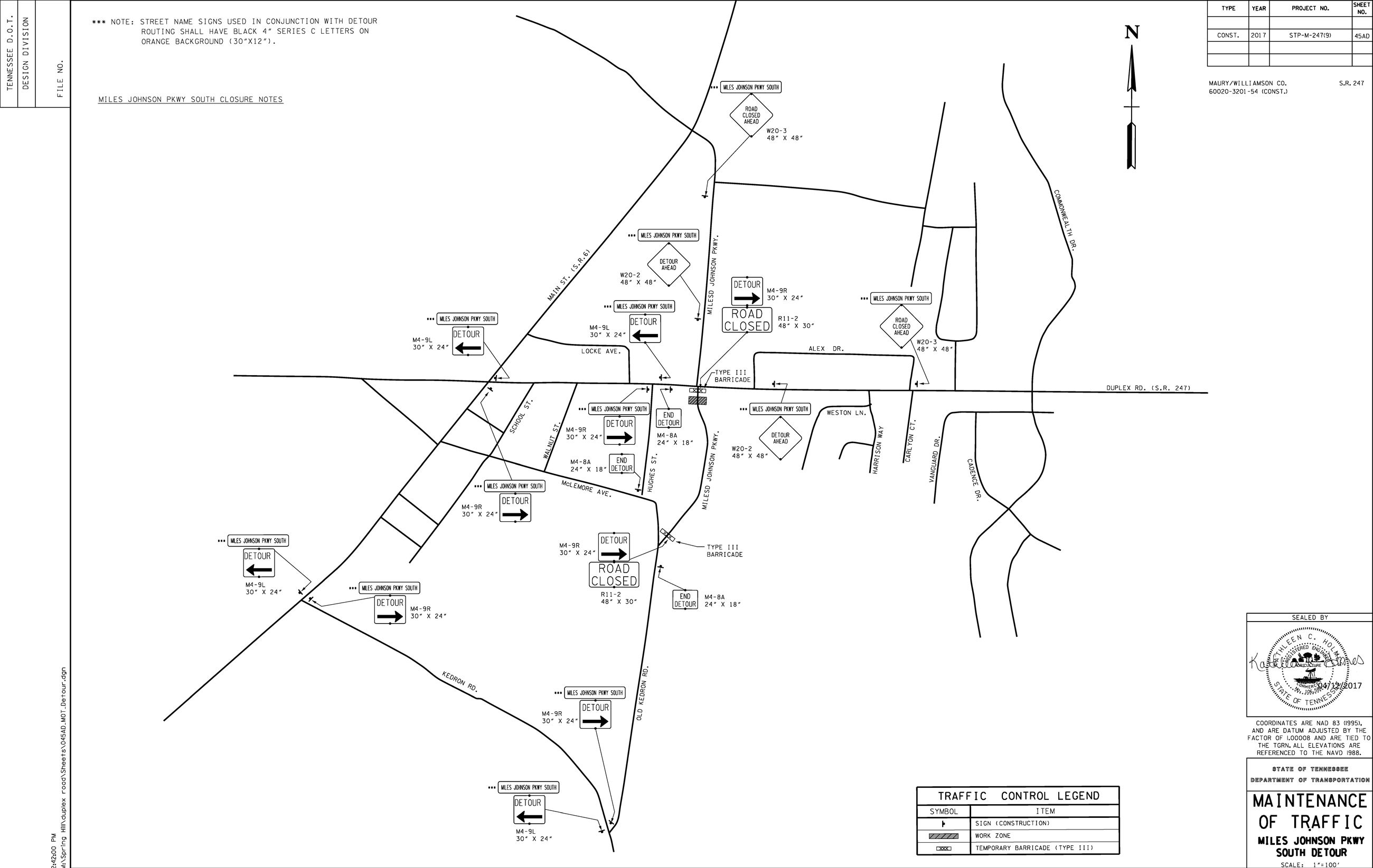 Spring Hill Tn Official Website M4 Schematic Duplex Rd Reopening Miles Johnson Pkwy Closing For Construction