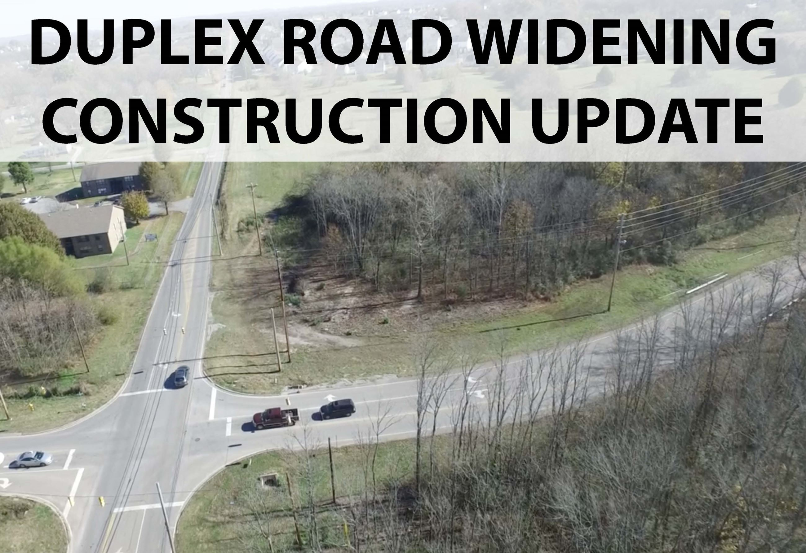 Duplex Road widening update