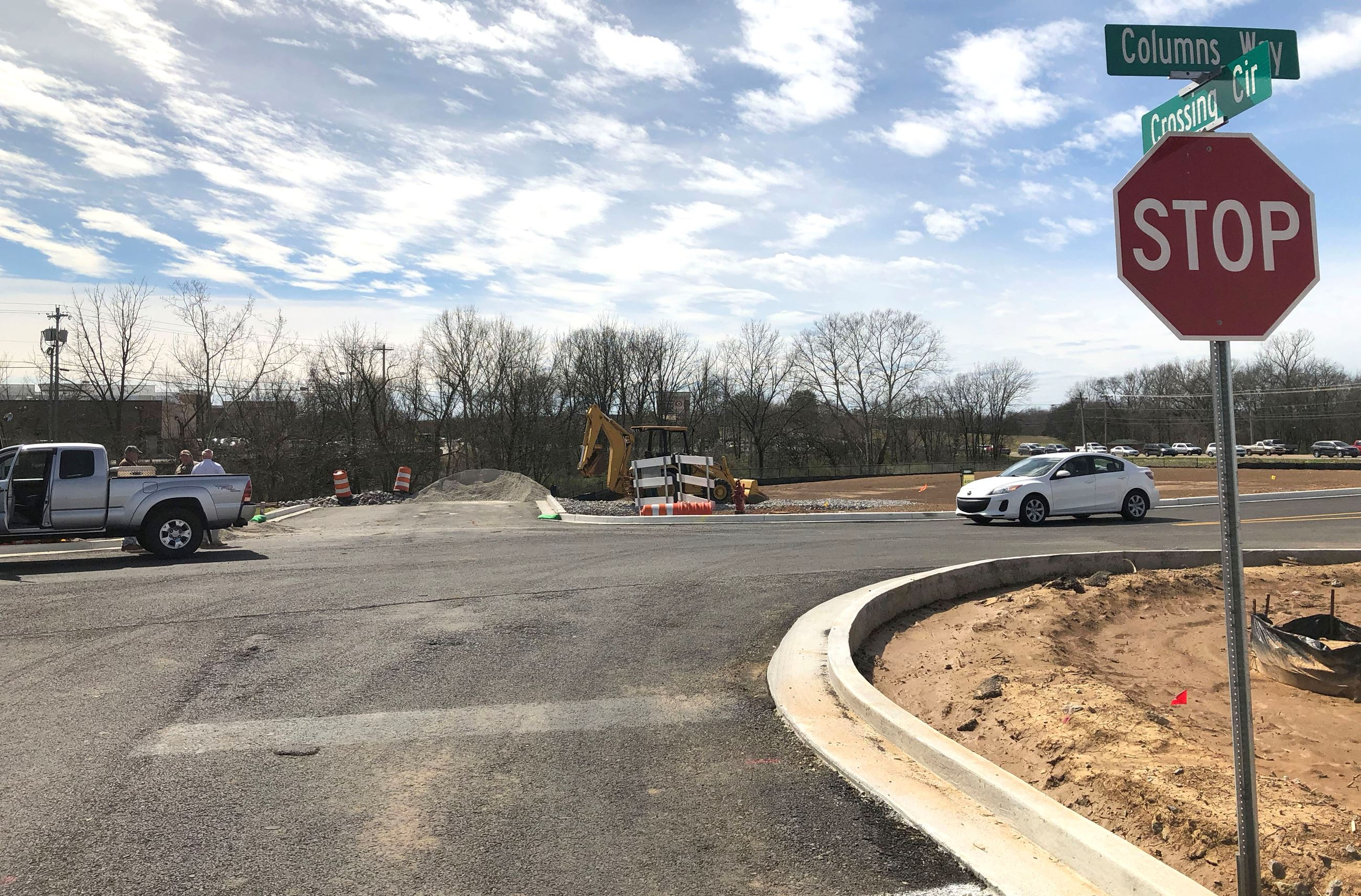 Crossings Circle North Bridge construction gets underway