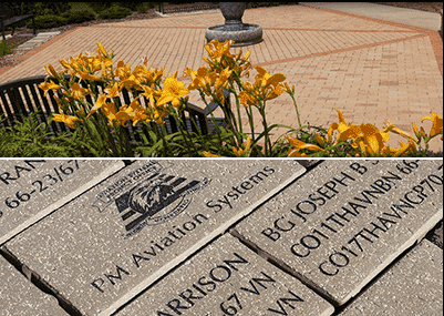 Brick Pavers for sale by Friends of the Library to fund Courtyard