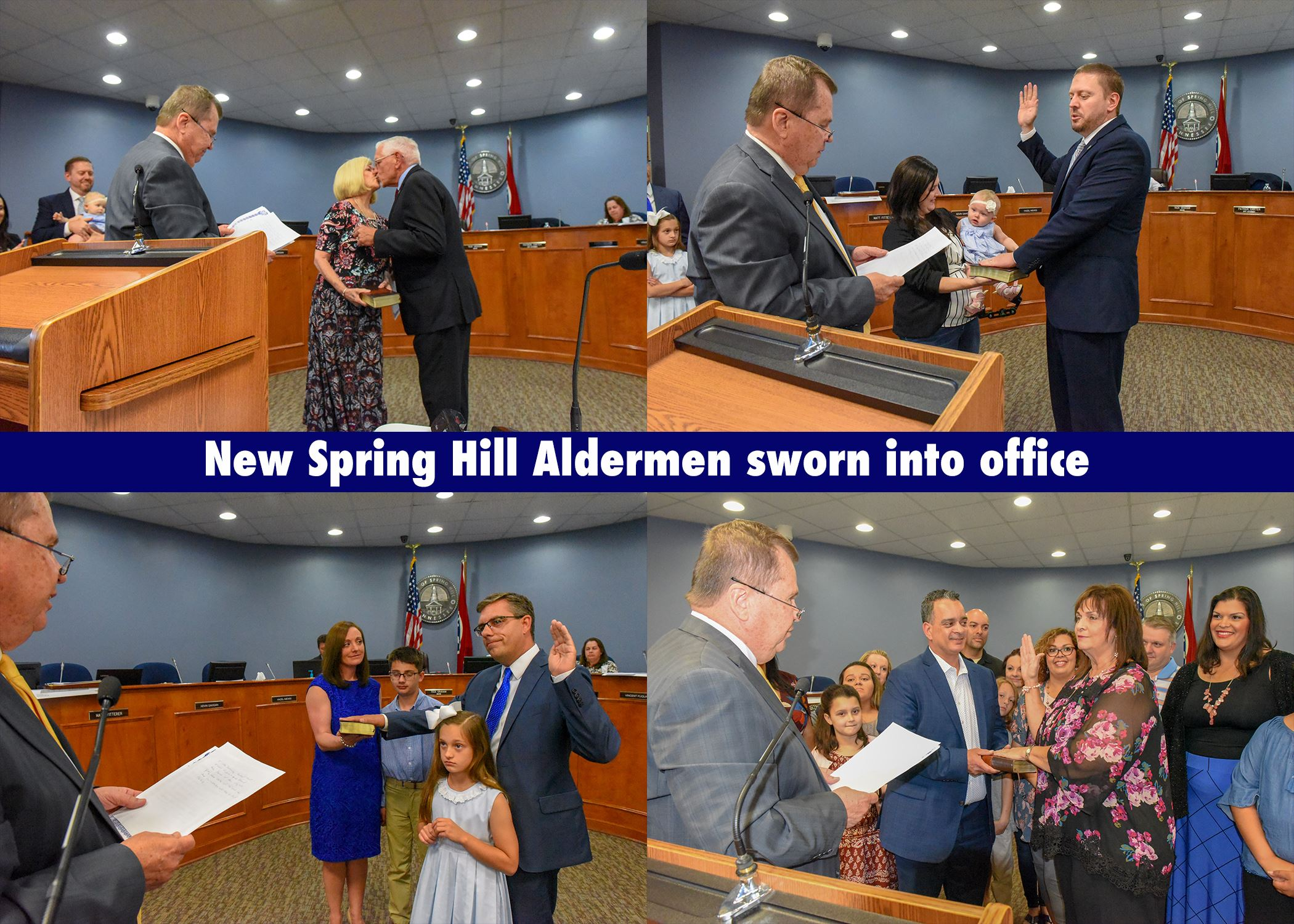 Four newly elected Aldermen were sworn into office on May 6, 2019