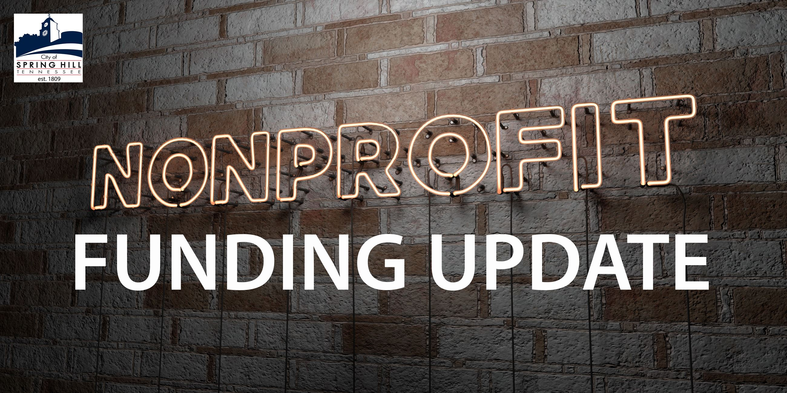 Nonprofit Funding Update