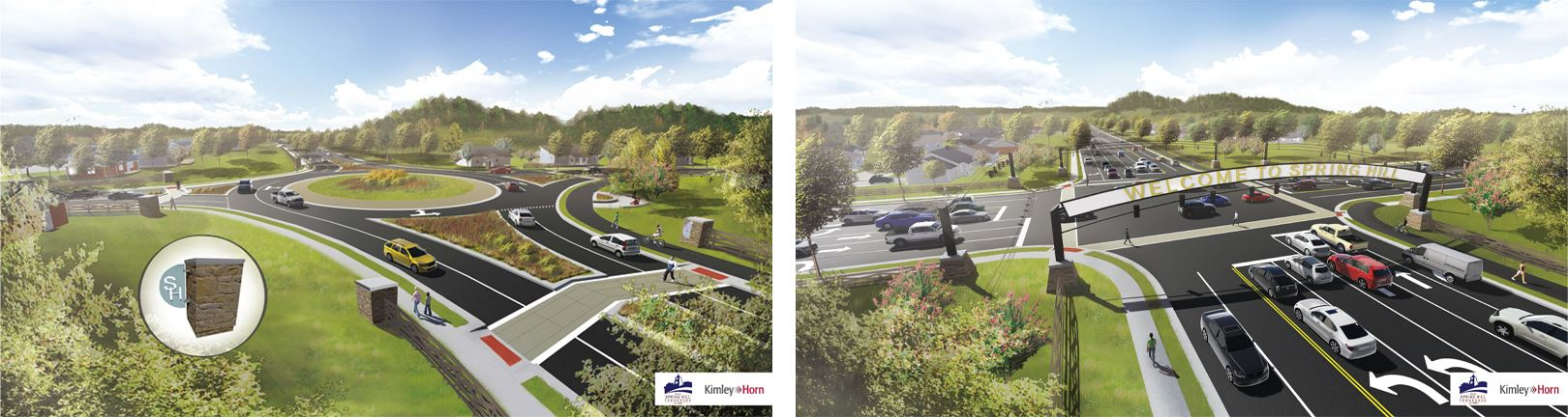Buckner Road design concept renderings