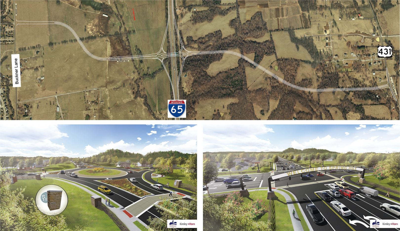 Buckner Road and Interstate 65 Interchange