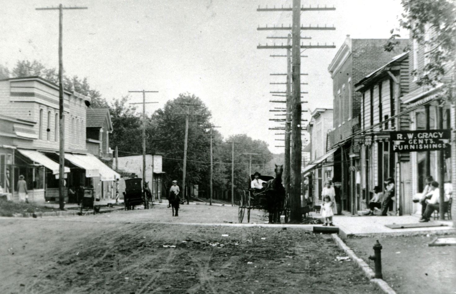 An old section of southbound Main Street in Spring Hill
