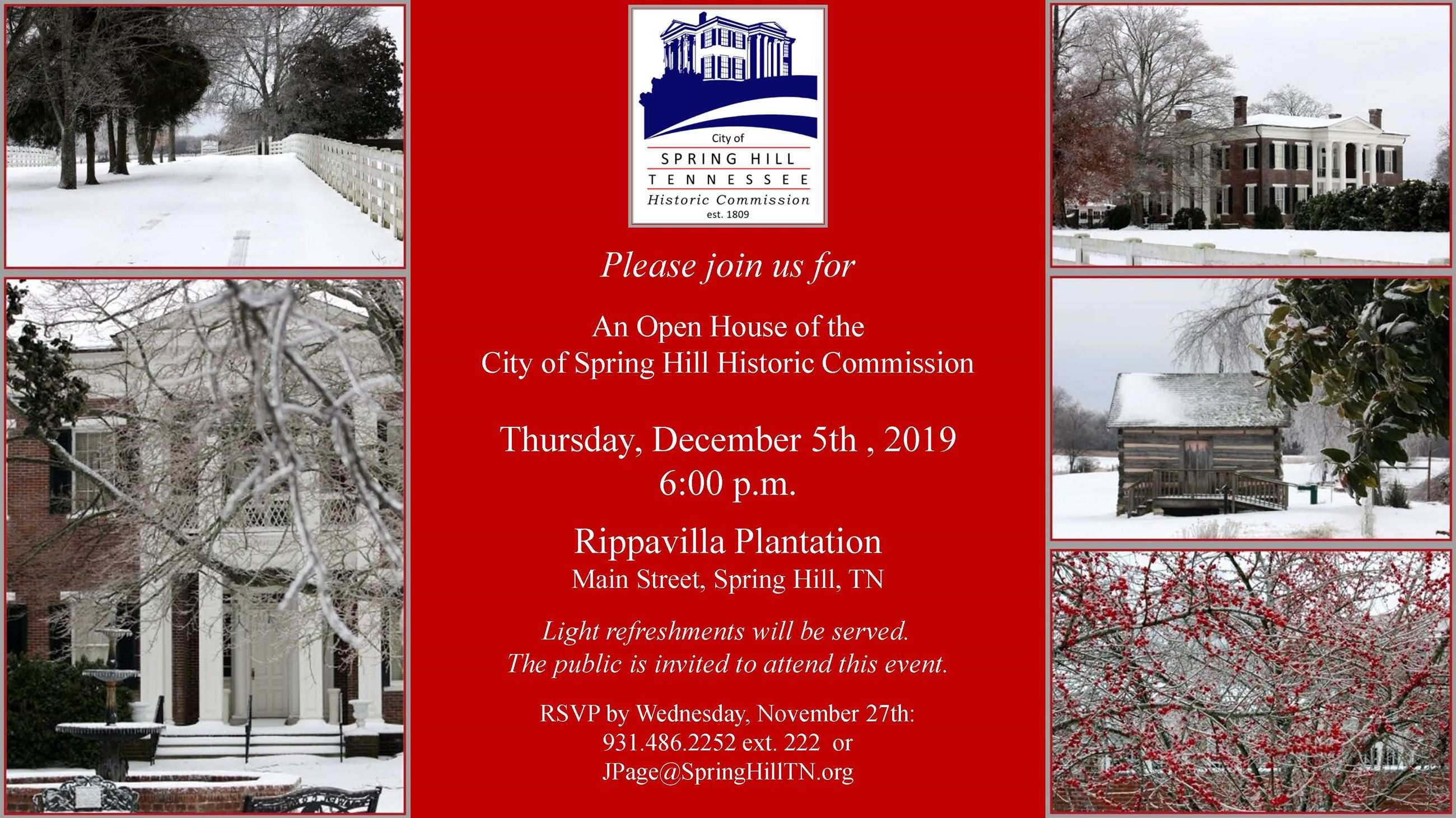 historic commisson christmas open house event
