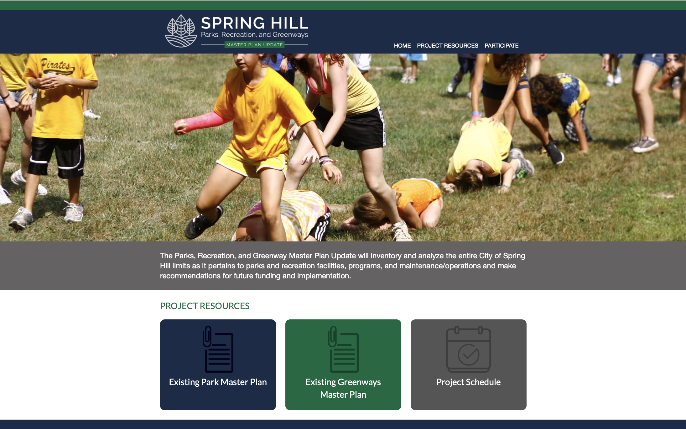 Please take this short survey and tell us what you think of Spring Hill's parks and recreation fa