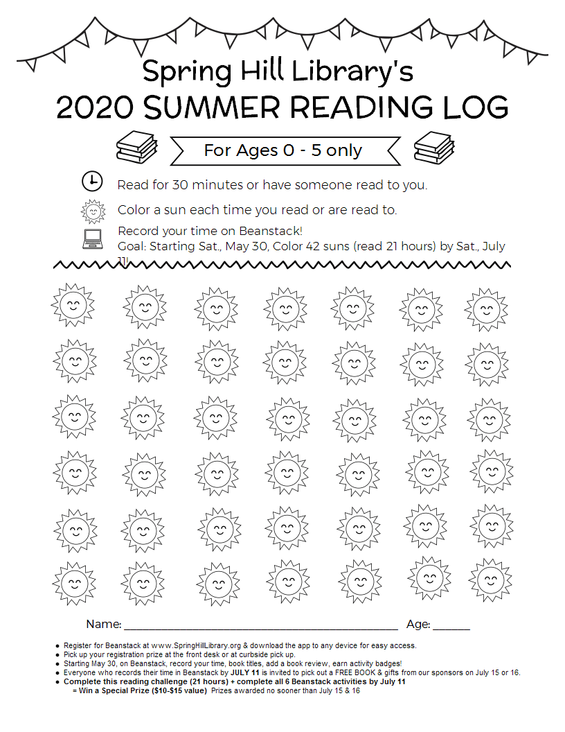 reading log for 0-5 image