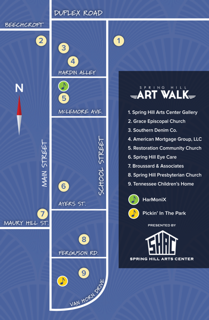 Art Walk map