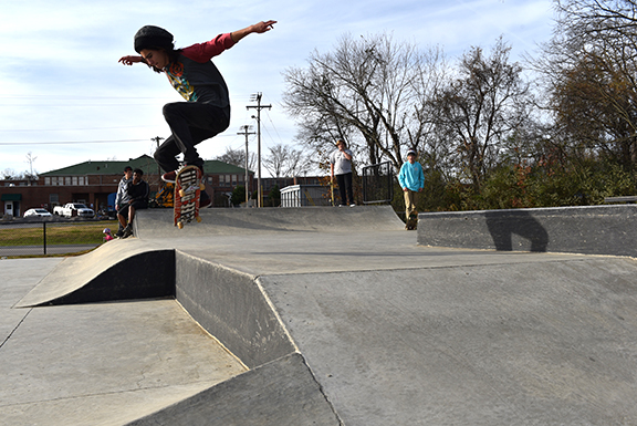 Walnut Street Skate Park opened in February 2014