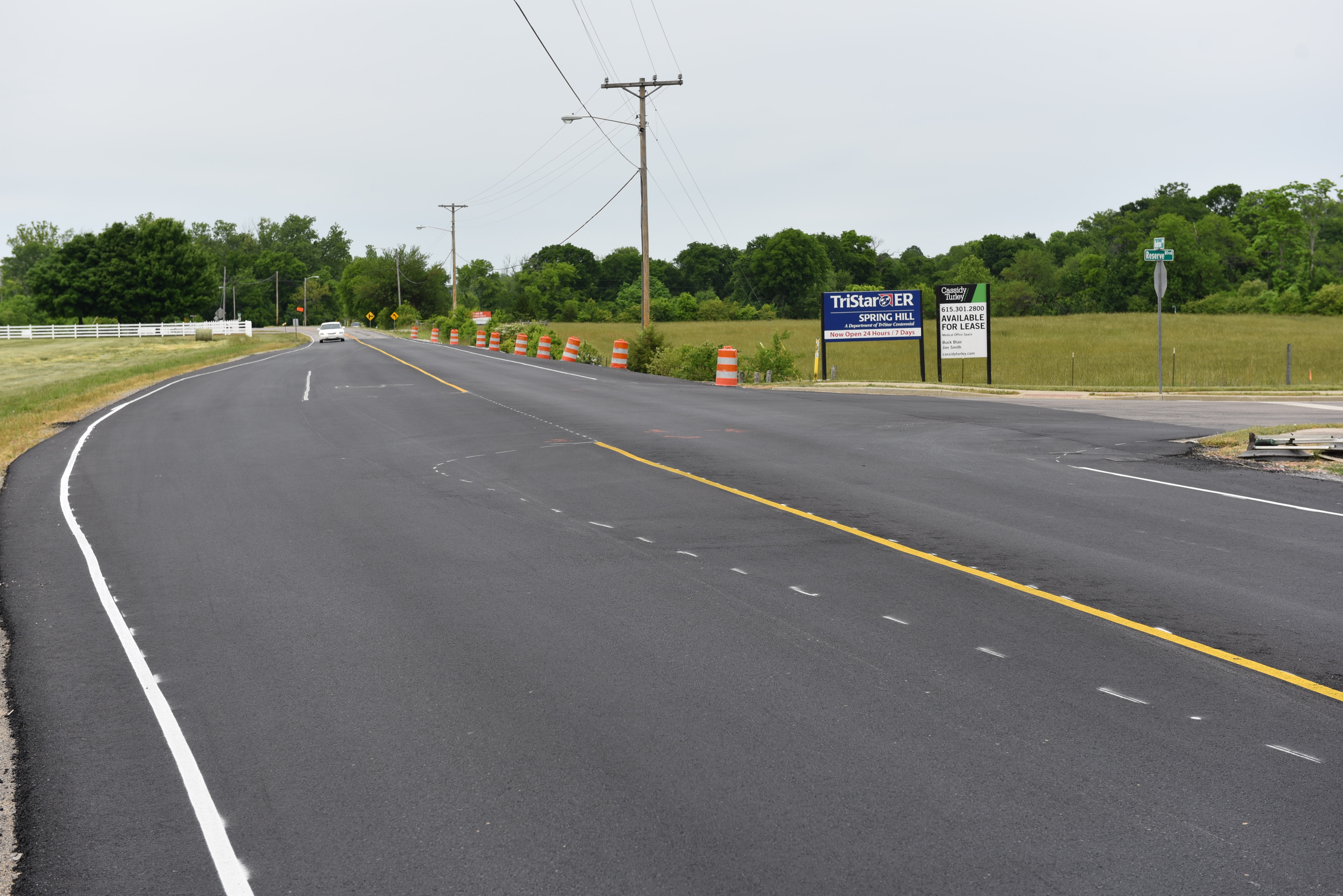Turn lane installed at Kedron Road and Reserve Boulevard
