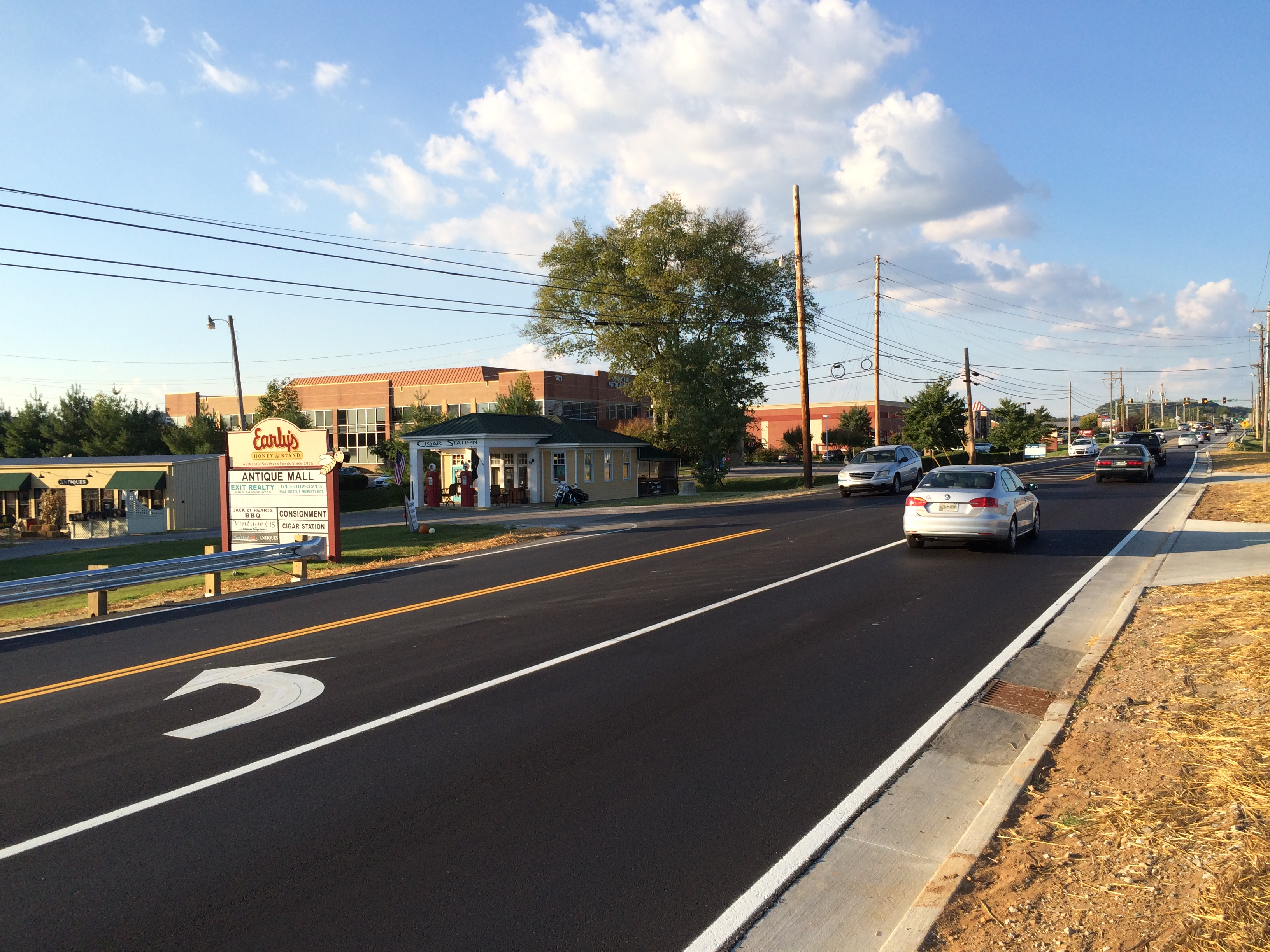 U.S. 31 turn lane installed at The Commons